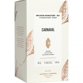 CARNAVAL - Infusion aromatisée BIO George Cannon - Boîte 20 sachets