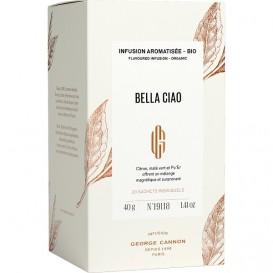 BELLA CIAO - Infusion aromatisée BIO George Cannon - Boîte 20 sachets
